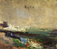 Boats on the Shore.Joan Eardley 1963.National Galleris of Scotland.