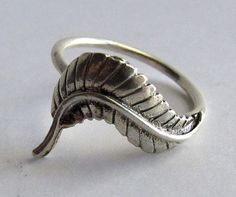 Sterling Silver Ring Pretty Leaf Design by Jewelry24Seven on Etsy, $29.99
