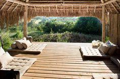 decordemon: Arijiju, the most beautiful safari lodge in Africa Wabi Sabi, Outdoor Yoga, Outdoor Decor, Porches, Building A Treehouse, Porch Furniture, Luxury Villa, Lodges, Decoration