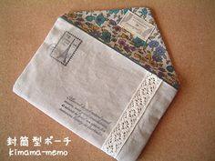 封筒型ポーチの作り方|その他|ファッション小物|ハンドメイド、手作り作品の作り方ならアトリエ