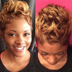 STYLIST FEATURE| Love the color on this #pixie styled by #chicagostylist @stylesbykim__  Classic #voiceofhair