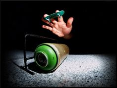 Fingerboard over a can!
