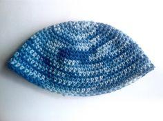 """FREE Israeli-style """"Frik"""" Kippah pattern - single crochet"""