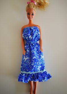 Barbie Wardrobe, Little Girls, Strapless Dress, Charlotte, Summer Dresses, Vintage, Style, Diy, Fashion