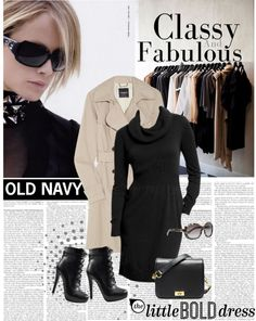 Black dress.  Love this ensemble.  #womensfashion #blackdress #dress #coat