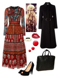 """Work"" by cgraham1 on Polyvore featuring Burberry, Christian Louboutin, STELLA McCARTNEY, Bric's, Jouer and Topshop"