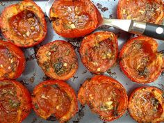 tomaten oven2 Vegan Lunches, Vegan Foods, I Foods, Easy Cooking, Cooking Recipes, Healthy Recipes, Fruits And Veggies, Italian Recipes, Love Food