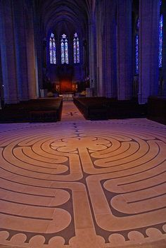 Grace Cathedral Labyrinth    Grace Cathedral (Episcopal) in San Francisco has two beautiful stone labyrinths - one inside and one outside