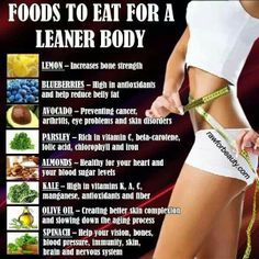 Healthy foods for a leaner body