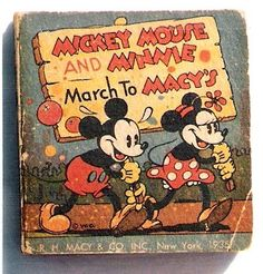 Mickey Mouse and Minnie March to Macy's was published in 1935 and also ran 144 pages in length. This book told the story of Mickey and Minnie's trip to New York City.