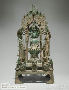 隋代青铜祭坛,高76.5cm,美国波士顿...