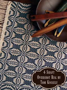 Overshot is a great structure for rugs, as Tom Knisely explains. Get this draft and tons of info about using overshot for rug weaving in Handwoven's Overshot eBook!