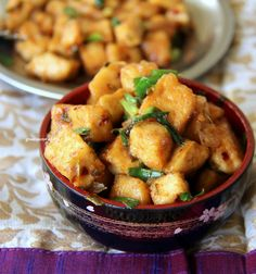 Hot and Sweet Lime Tofu - Vegan