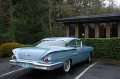 Documenting and celebrating the forgotten daily drivers and automotive workhorses of Portland, Oregon Car Chevrolet, Classic Chevrolet, 1958 Chevy Impala, 1950s Car, American Muscle Cars, General Motors, Car Photos, Drag Racing, Cool Cars