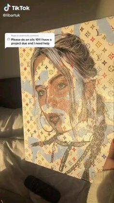 Cool Art Drawings, Art Drawings Sketches, Diy Canvas Art, Art Portfolio, Art Plastique, Art Sketchbook, Portrait Art, Aesthetic Art, Art Techniques