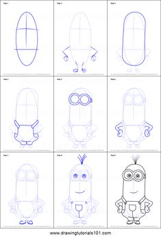 how to draw kevin from minions printable step by step drawing sheet drawingtutor. Pencil Art Drawings, Art Drawings Sketches, Cartoon Drawings, Disney Drawing Tutorial, Drawing Tutorials For Kids, Easy Disney Drawings, Easy Drawings, Minion Drawing, Drawing Sheet