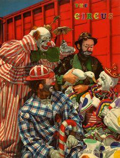 Ringling Circus clowns Florida (1947)