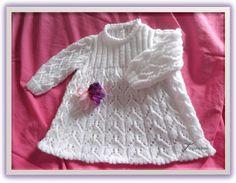 Knit Baby Dress, Baby Knitting, Knit Crochet, Knitting Patterns, Baby Kids, Wool, Sweaters, Voici, Dresses