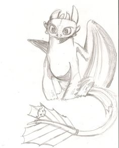 pin the tail on toothless Amazing Drawings, Cute Drawings, Drawing Sketches, Toothless Sketch, How To Draw Toothless, Toothless Tattoo, Dragon Sketch, How To Train Dragon, Dragon Rider