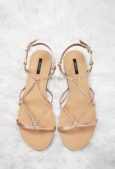 ddfe8981b5be Forever 21. Gold Flat SandalsGold ...
