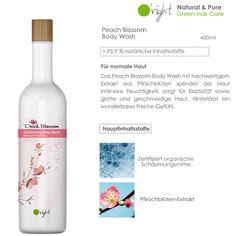 O'right Peach Blossom Body Wash mit über 95,9% natürlichen Inhaltsstoffen, hochwertigem Extrakt aus Pfirsichblüten und natürlichen Schäumungsmitteln spendet der Haut Feuchtigkeit und sorgt für geschmeidige Haut. Green Bodies, Peach Blossoms, Body Wash, Wine, Drinks, Bottle, Makeup, Beauty, Shower Gel