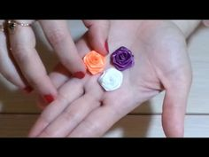 How to make small roses of satin ribbon - YouTube