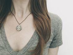 Petite Hand Stitched Black Mountain Studio Necklace | Zelma Rose