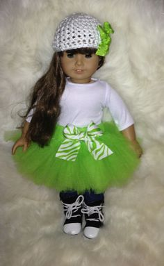 American Girl Doll - Light Green. $8.00, via Etsy.