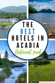 The best places to stay near Acadia National park, campsites and hotels that will suit your needs while visiting the famous National Park. Acadia National Park, Us National Parks, Beautiful Park, Beautiful Hotels, Best Family Vacations, Family Travel, Us Park, Park Around, Great Hotel