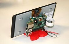 The Raspberry Pi gets its own 7″ touchscreen display. #Atmel #RaspberryPi…