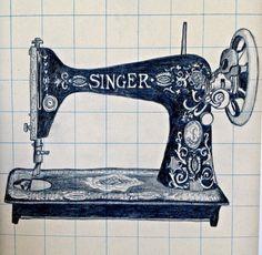 Rauschenberg Erases - pencil sketch #singer sewing machine