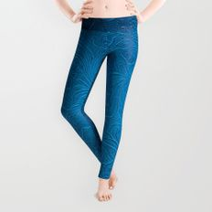 Royal Blue Tooled Leather Leggings