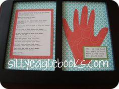 Silly Eagle Books: father's day gift idea: handprint keepsake and interview