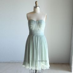 Bridesmaid Dress/  /sweetheart strapless / MINT green by RenzRags, $98.00 *