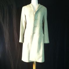 Max Studio Coat Flattering, light weight wool coat, pretty spring green tweed, worn once, 3rd photo is the actual color Max Studio Jackets & Coats Pea Coats