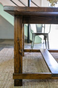 Beautifully weathered and charmingly distressed, this classic parsons style table is custom-made for your quintessential American dining room.