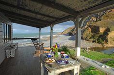 The Beach Hut, a romantic retreat in Cornwall Beach Cottage Style, Beach Cottage Decor, Coastal Cottage, Coastal Living, Beach House, Coastal Decor, Cottage Patio, Coastal Homes, Coastal Style