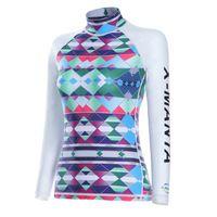 Women's Wetsuits Long Sleeve Rash Guard Top UV Sun Protection Girls' Swimming Shirt UV Sun Protection Long-Sleeve Rash Guards