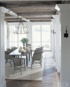 rustic simplicity dining room