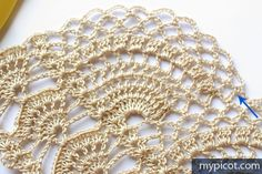 MyPicot is always looking for excellence and intends to be the most authentic, creative, and innovative advanced crochet laboratory in the world. Crochet Borders, Crochet Stitches Patterns, Filet Crochet, Crochet Motif, Stitch Patterns, Crochet Shoes, Stitch Design, Projects To Try, Knitting