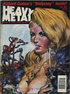 """gameraboy: """" Heavy Metal, May 1985 by Eric Carl Cover by Tanino Liberatore """""""