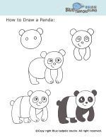 panda nasıl çizilir kolay resim çizme