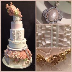 Marie Antoinette wedding cake and details, by Reva Alexander-Hawk for Merci Beaucoup Cakes, San Francisco Bay Area 2014