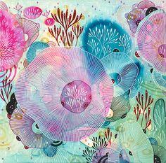 Récif  Fine Art Print impression jet d'encre des fleurs par yellena