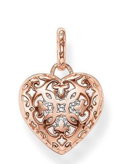 Thomas Sabo Pendant Glam & Soul Locket Heart Rose Gold | C W Sellors Fine Jewellery and Luxury Watches