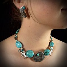 Turquoise Necklace, Jewelry, Fashion, Moda, Jewlery, Jewerly, Fashion Styles, Schmuck, Jewels