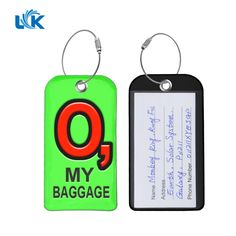 Custom luggage tags travel tags id labels name card holder for new gift idea luggage tags bright colors business card holder suitcase baggage tags 1 14 g per piece 2 material soft pvc with stainless steel wire key reheart Image collections
