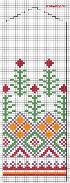 Latvisk Vott 1 Crochet Gloves, Knit Crochet, Knitting Charts, Knitting Patterns, Mitten Gloves, Mittens, Doilies, Loom, Cross Stitch Patterns