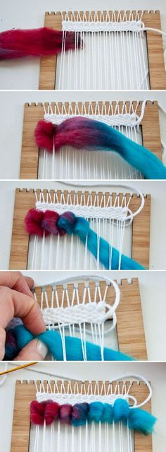 How to Weave Wool Roving | The Weaving Loom