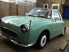 My Nissan Figaro after a clean, Elvis